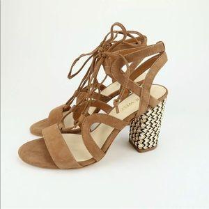 Nine West bizzy strappy heels Sz 7 M